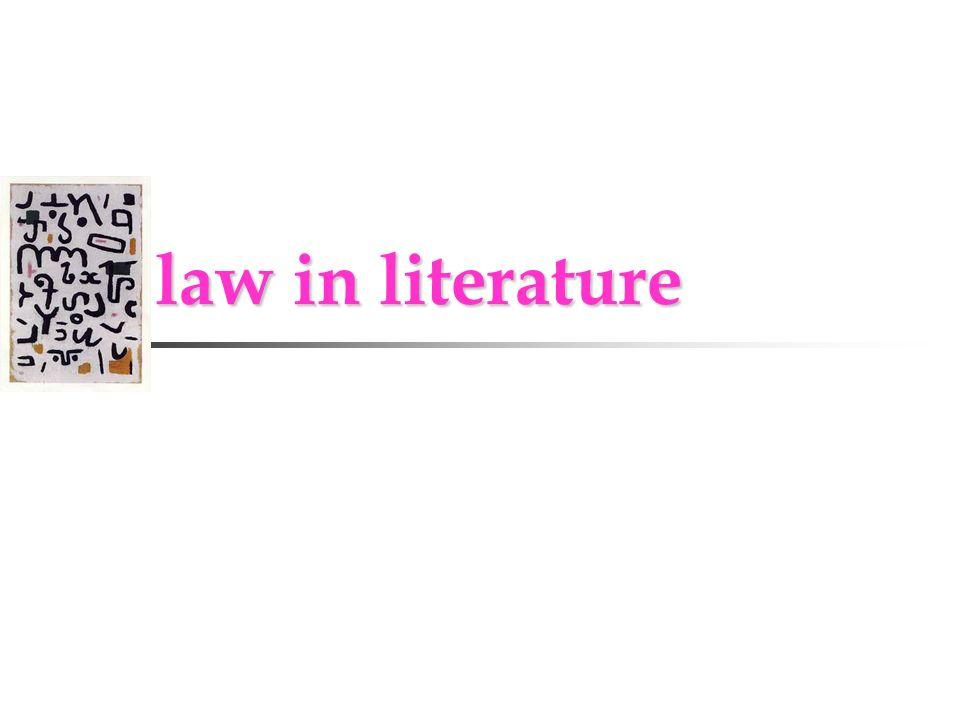 law in literature law in literature