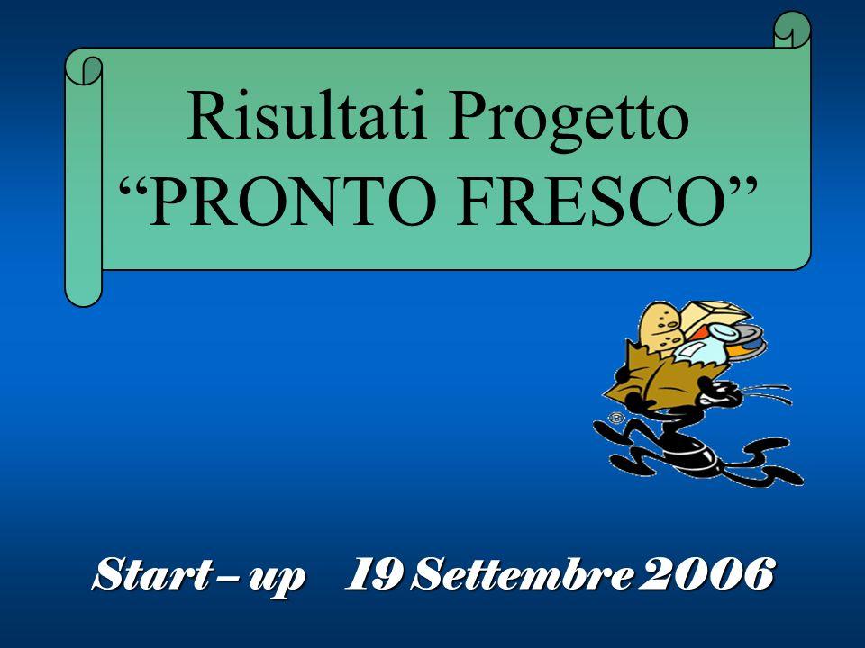 Risultati Progetto PRONTO FRESCO Start – up 19 Settembre 2006