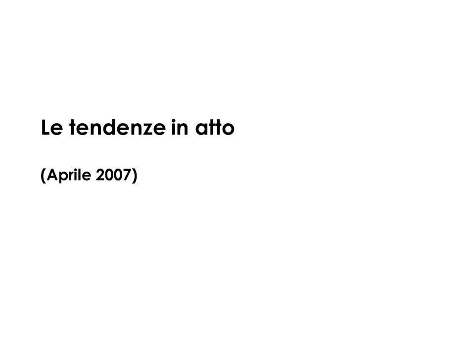 Le tendenze in atto (Aprile 2007)