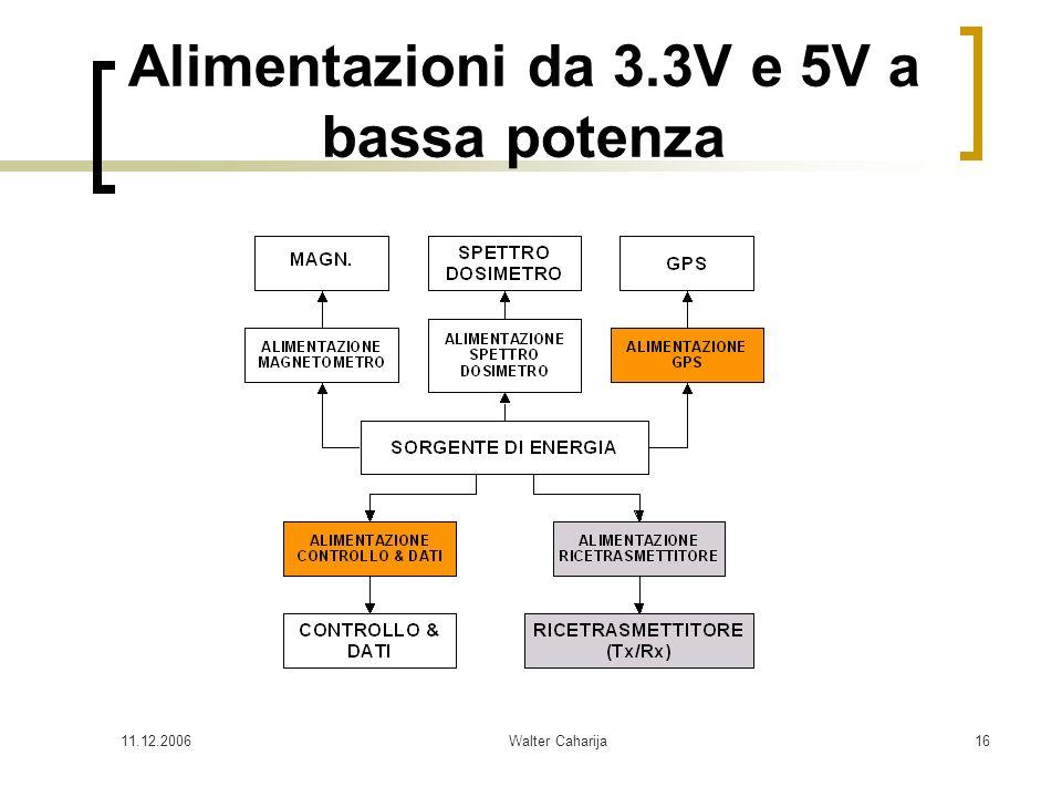 11.12.2006Walter Caharija16 Alimentazioni da 3.3V e 5V a bassa potenza