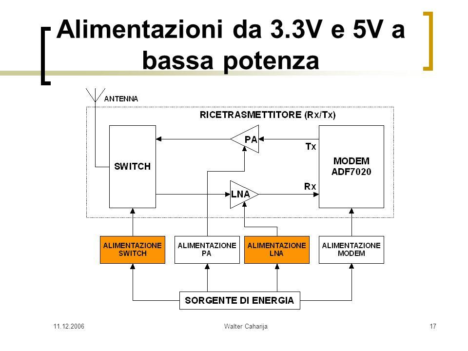 11.12.2006Walter Caharija17 Alimentazioni da 3.3V e 5V a bassa potenza