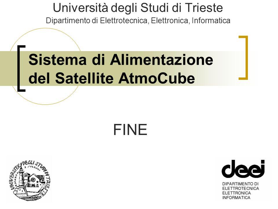 Sistema di Alimentazione del Satellite AtmoCube Università degli Studi di Trieste Dipartimento di Elettrotecnica, Elettronica, Informatica FINE