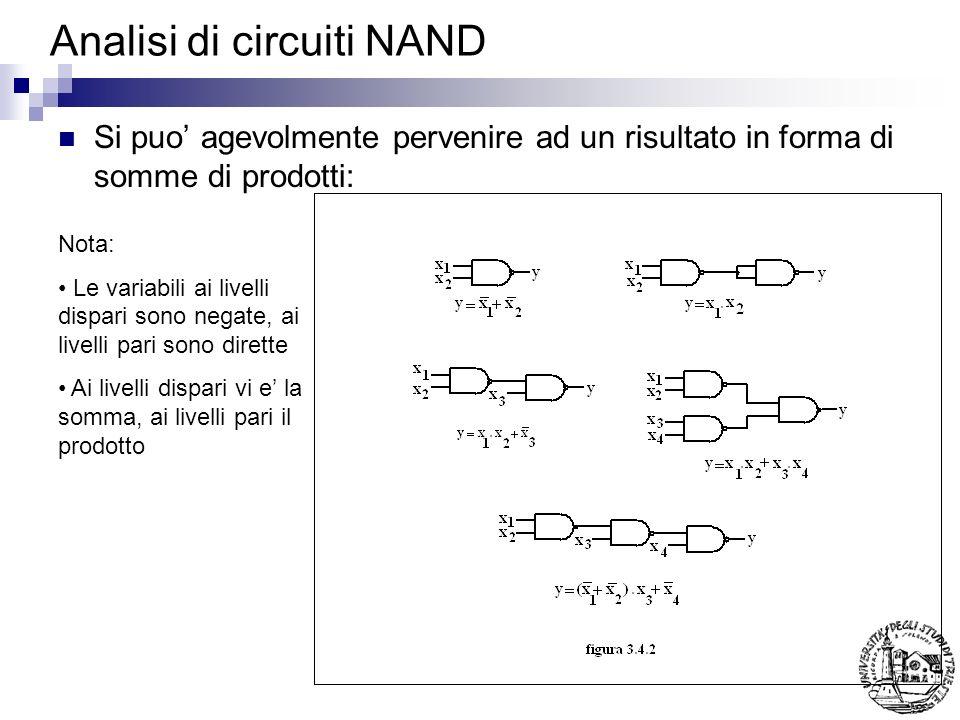 Selettori e matrici Realizzano tutti i termini minimi Hanno (n ingressi e 2 n uscite) Sono anche detti decodificatori Prendono il nome di matrici quando sono realizzati con particolari soluzioni circuitali (diodi)
