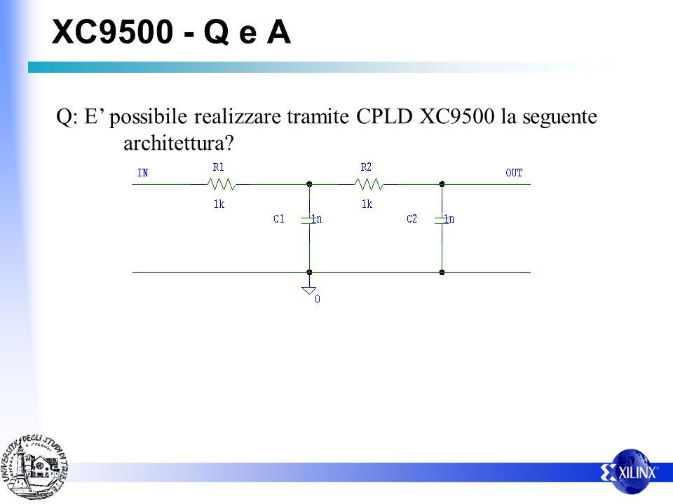 XC9500 - Q e A Q: E possibile realizzare tramite CPLD XC9500 la seguente architettura?
