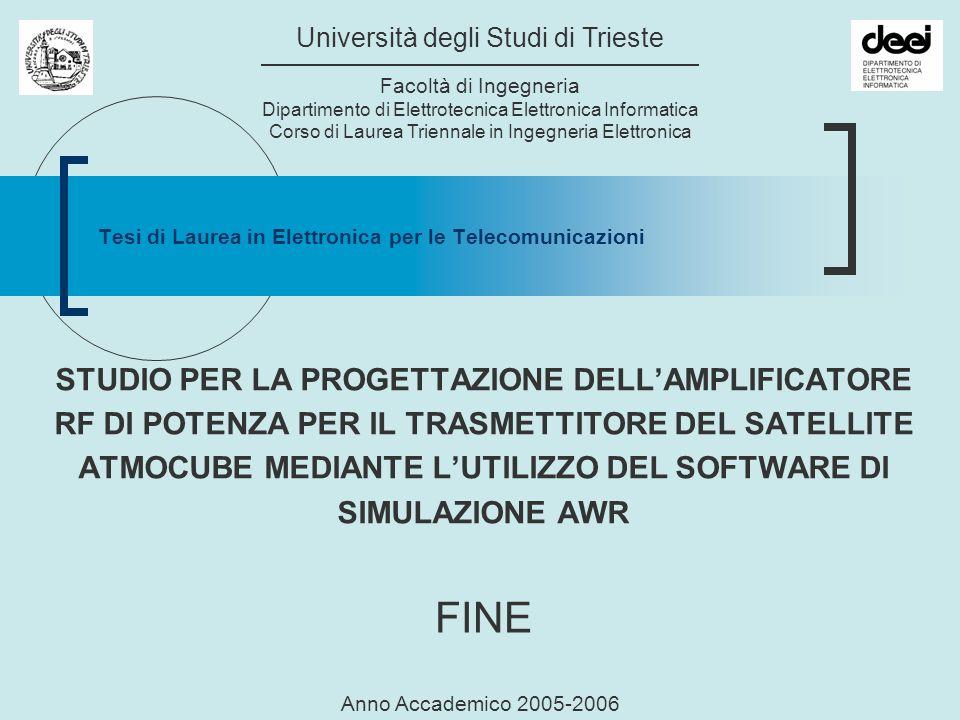 Tesi di Laurea in Elettronica per le Telecomunicazioni Università degli Studi di Trieste Facoltà di Ingegneria Dipartimento di Elettrotecnica Elettron