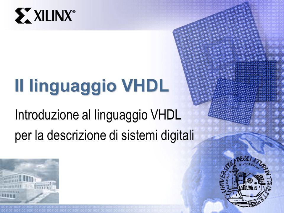 Il linguaggio VHDL Introduzione al linguaggio VHDL per la descrizione di sistemi digitali