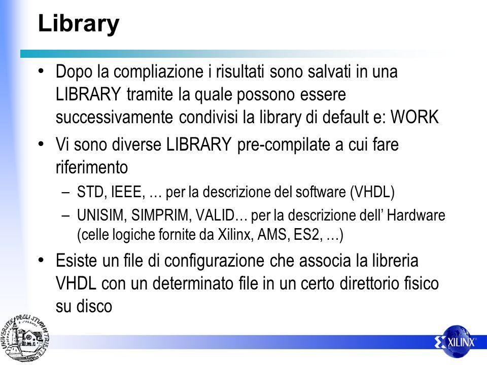 Library Dopo la compliazione i risultati sono salvati in una LIBRARY tramite la quale possono essere successivamente condivisi la library di default e