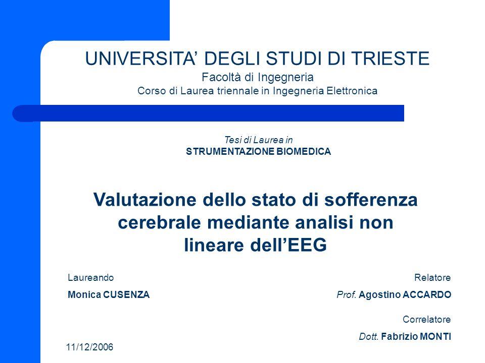 SOMMARIO Introduzione Stato dellarte Obiettivo della tesi Materiale e Metodi Risultati e discussione Conclusioni Sviluppi futuri 1/26