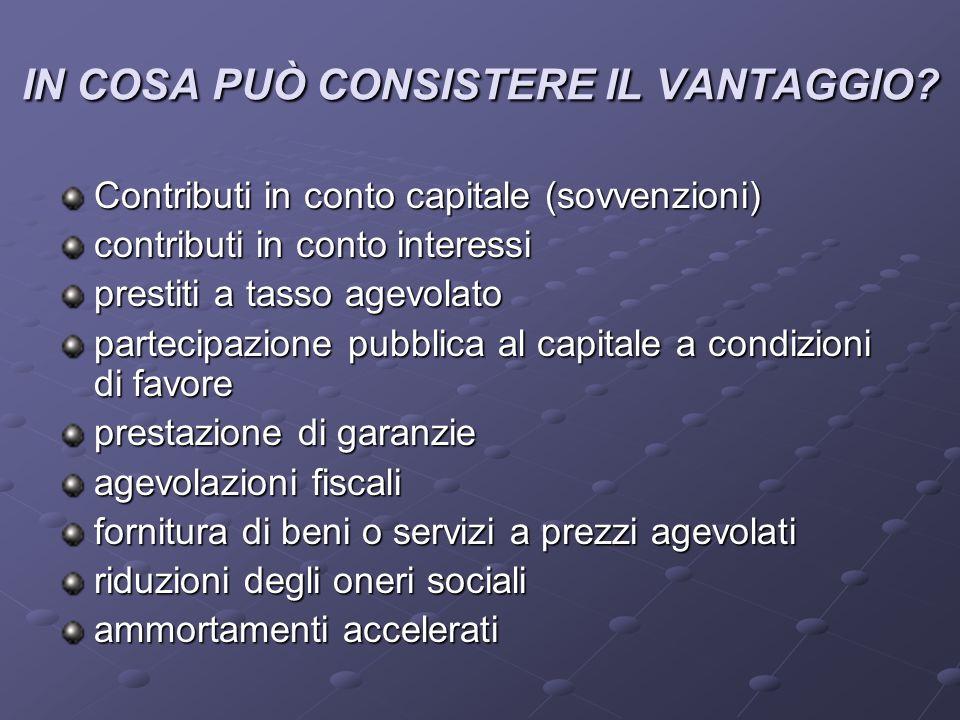 IN COSA PUÒ CONSISTERE IL VANTAGGIO.