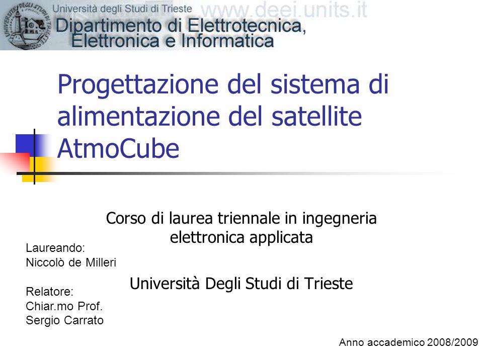 Progettazione del sistema di alimentazione del satellite AtmoCube Corso di laurea triennale in ingegneria elettronica applicata Università Degli Studi