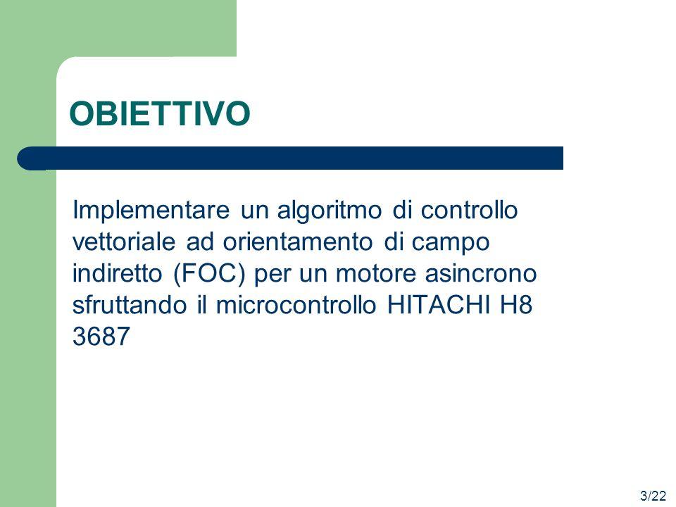 OBIETTIVO Implementare un algoritmo di controllo vettoriale ad orientamento di campo indiretto (FOC) per un motore asincrono sfruttando il microcontro
