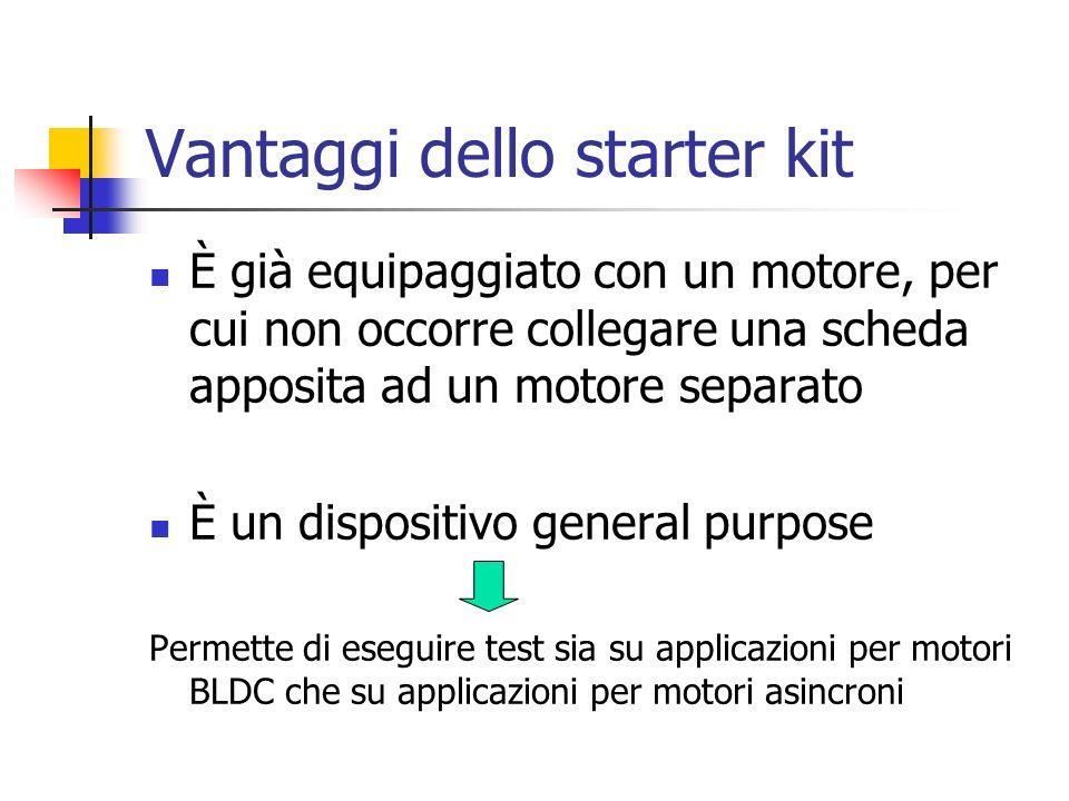 Vantaggi dello starter kit È già equipaggiato con un motore, per cui non occorre collegare una scheda apposita ad un motore separato È un dispositivo