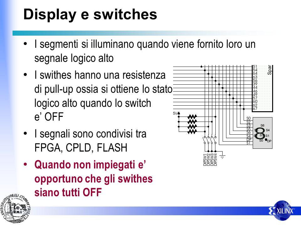 Configurazione EEPROM Per configurare la EEPROM – Verificare che i 4 Swithes siano OFF – il display a 7 segmenti si illuminera durante la fase di conf