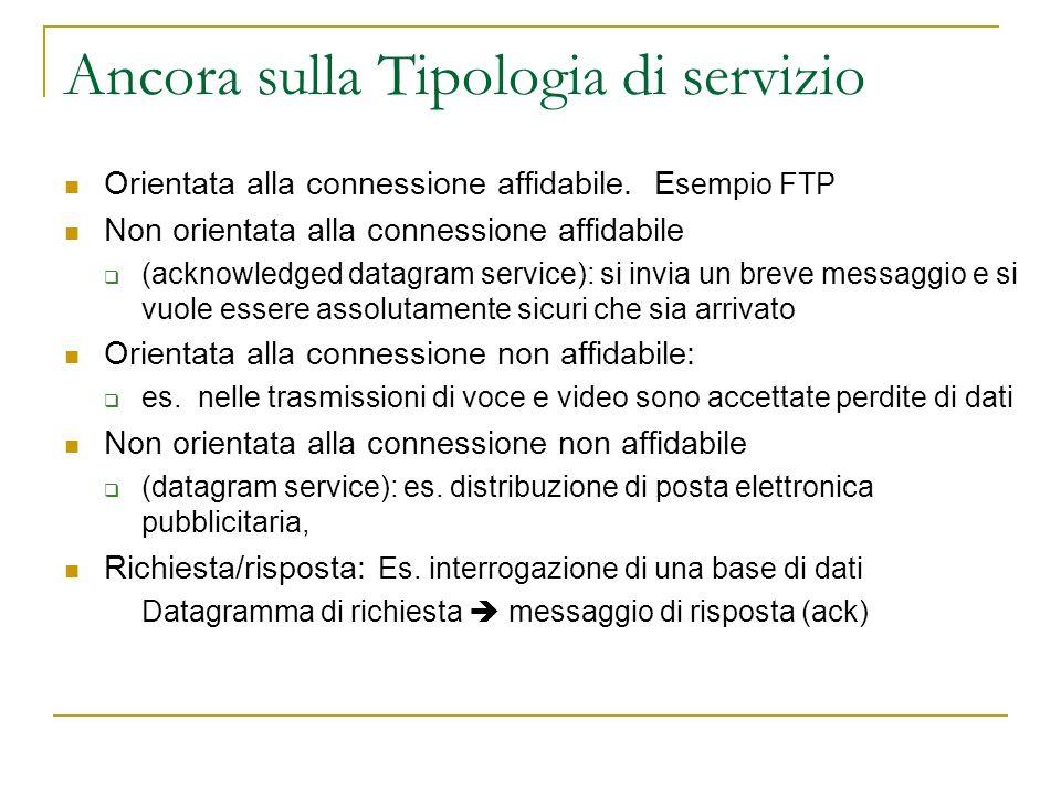 Ancora sulla Tipologia di servizio Orientata alla connessione affidabile.