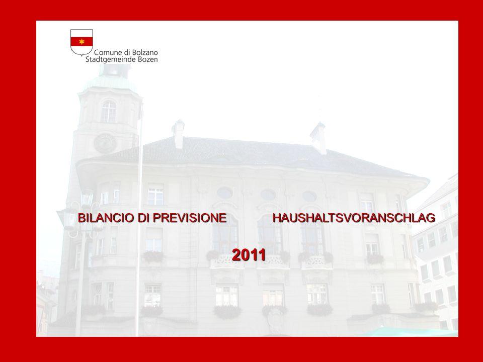 BILANCIO DI PREVISIONE HAUSHALTSVORANSCHLAG2011