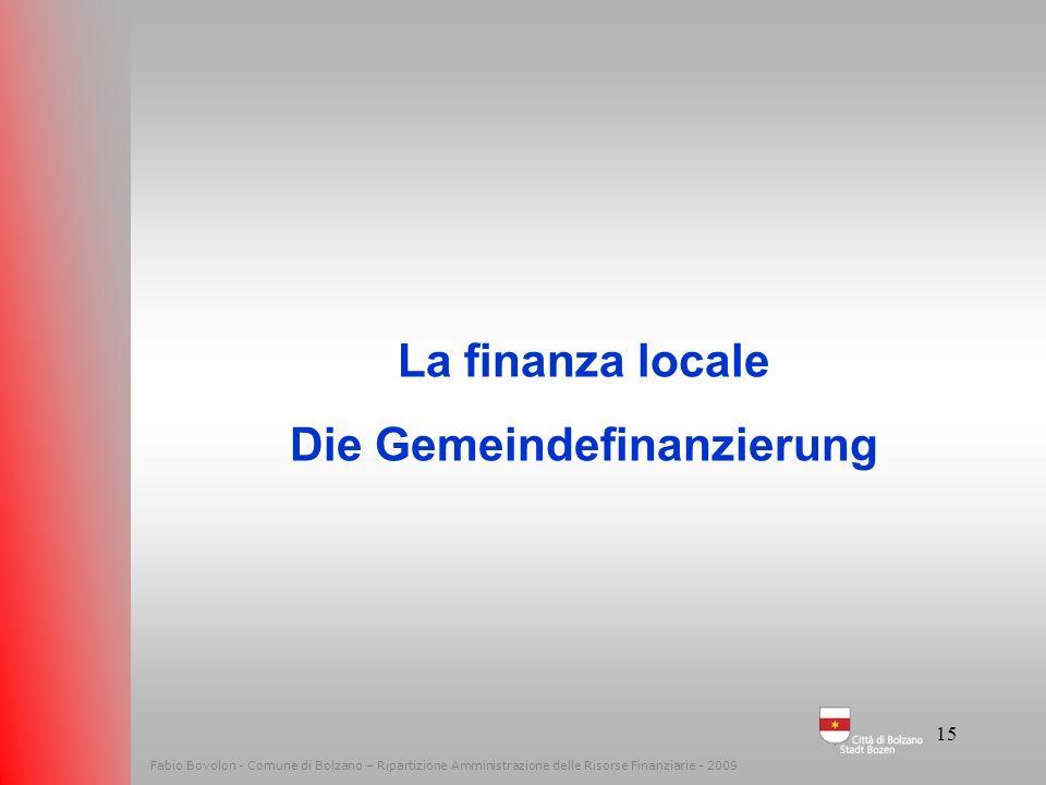 14 Fabio Bovolon - Comune di Bolzano – Ripartizione Amministrazione delle Risorse Finanziarie - 2010