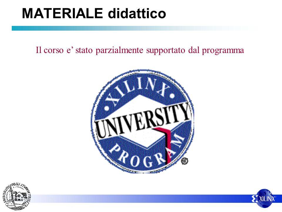 Il corso e stato parzialmente supportato dal programma MATERIALE didattico