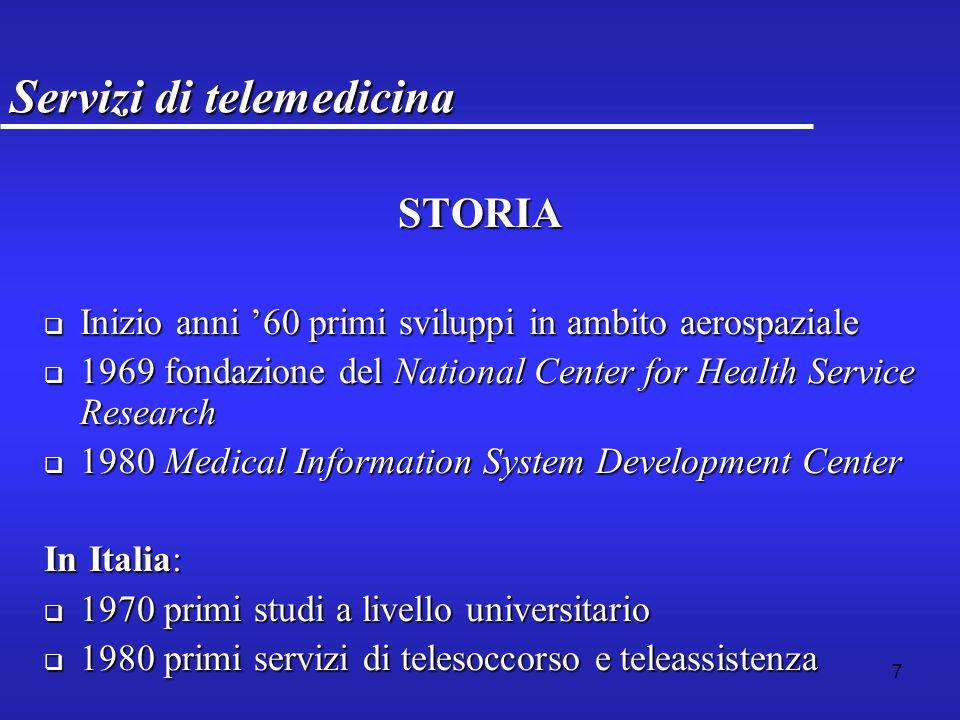 8 Servizi di telemedicina Ricerca preliminare