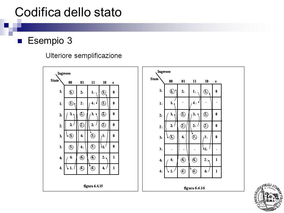 Codifica dello stato Esempio 3 Ulteriore semplificazione