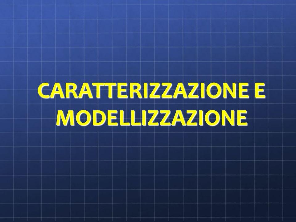 CARATTERIZZAZIONE E MODELLIZZAZIONE