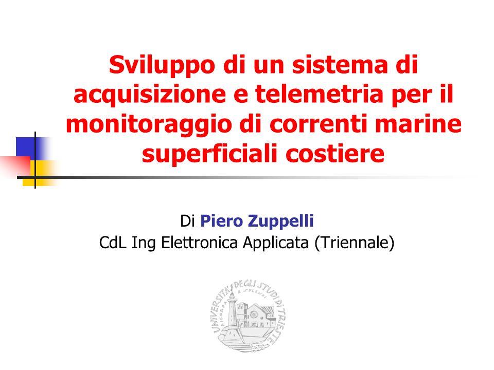 Sviluppo di un sistema di acquisizione e telemetria per il monitoraggio di correnti marine superficiali costiere Di Piero Zuppelli CdL Ing Elettronica