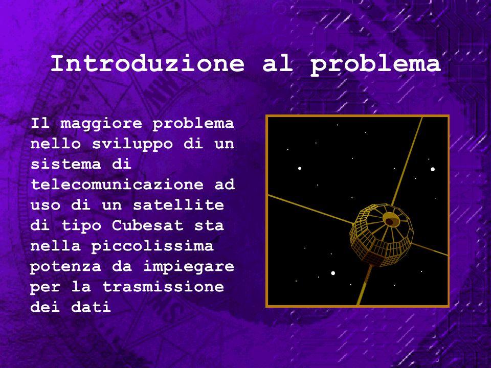 Introduzione al problema Il maggiore problema nello sviluppo di un sistema di telecomunicazione ad uso di un satellite di tipo Cubesat sta nella picco