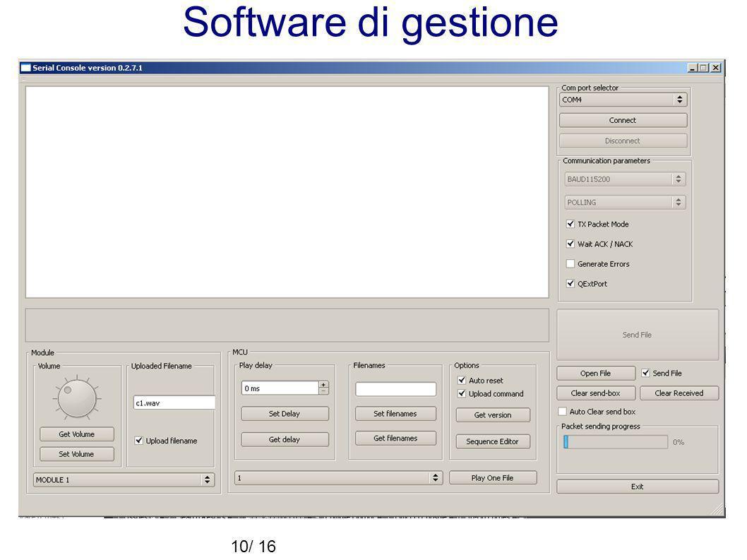 Software di gestione 10/16