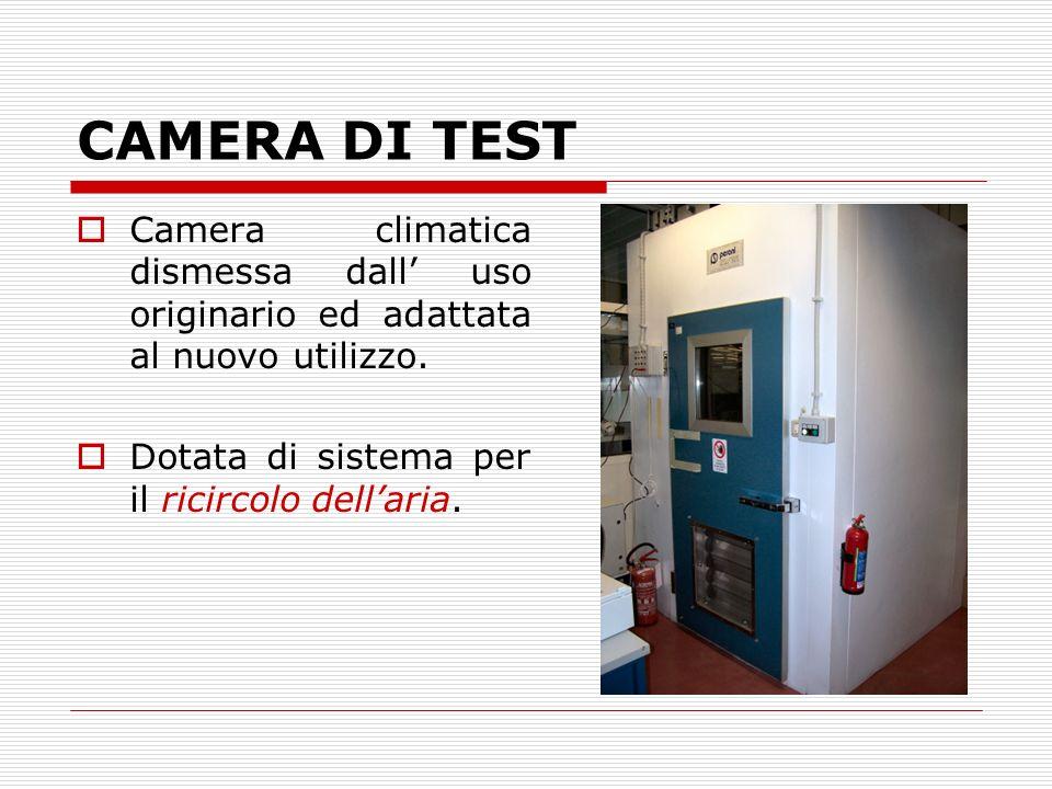 CAMERA DI TEST Camera climatica dismessa dall uso originario ed adattata al nuovo utilizzo. Dotata di sistema per il ricircolo dellaria.