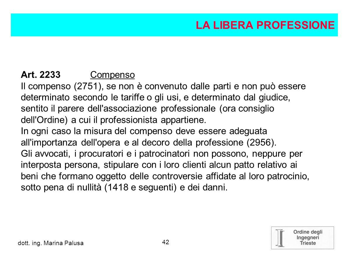 41 dott.ing. Alberto Guglia dott. ing. Marina Palusa Art.