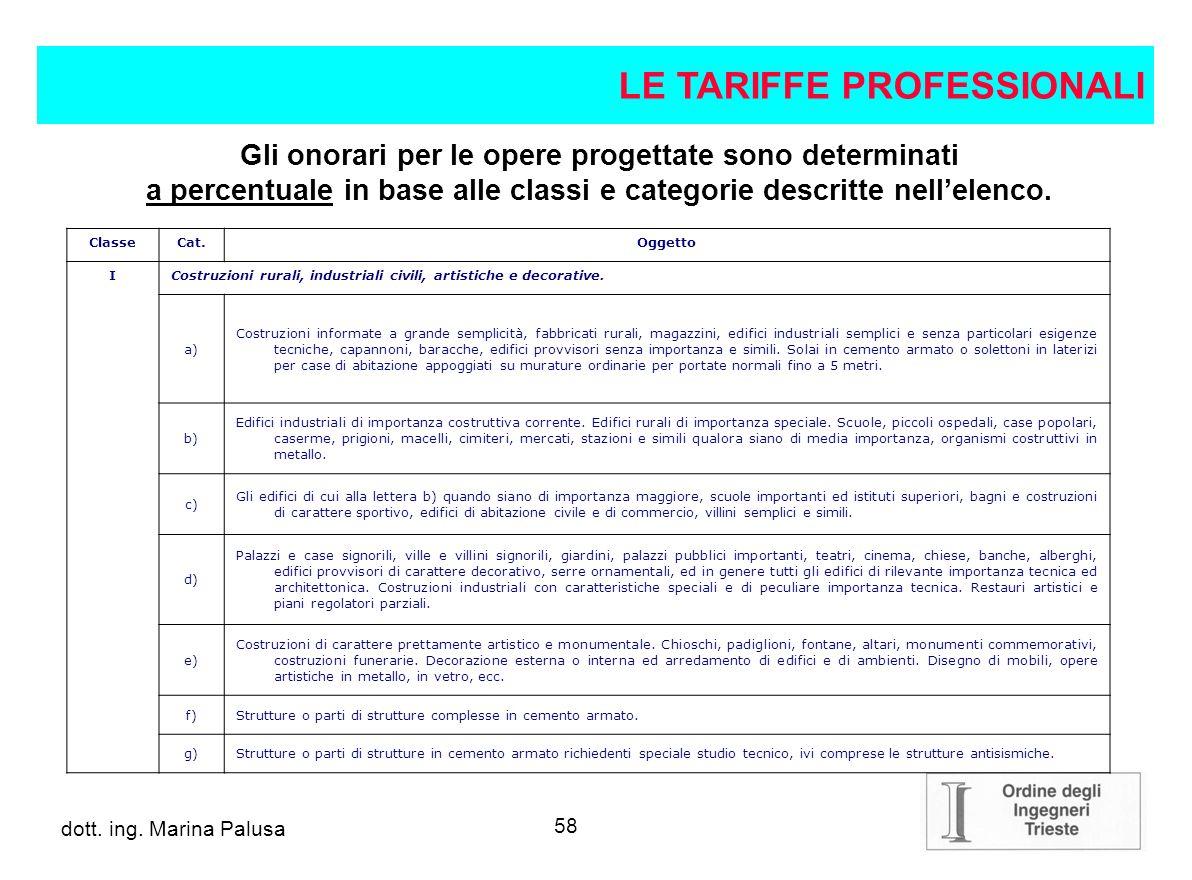 57 dott.ing. Alberto Guglia L. 143/1949 e successivi aggiornamenti D.M.