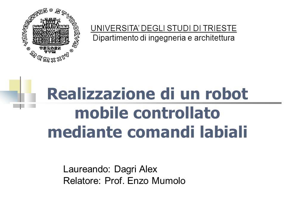 Realizzazione di un robot mobile controllato mediante comandi labiali UNIVERSITA DEGLI STUDI DI TRIESTE Dipartimento di ingegneria e architettura Laur