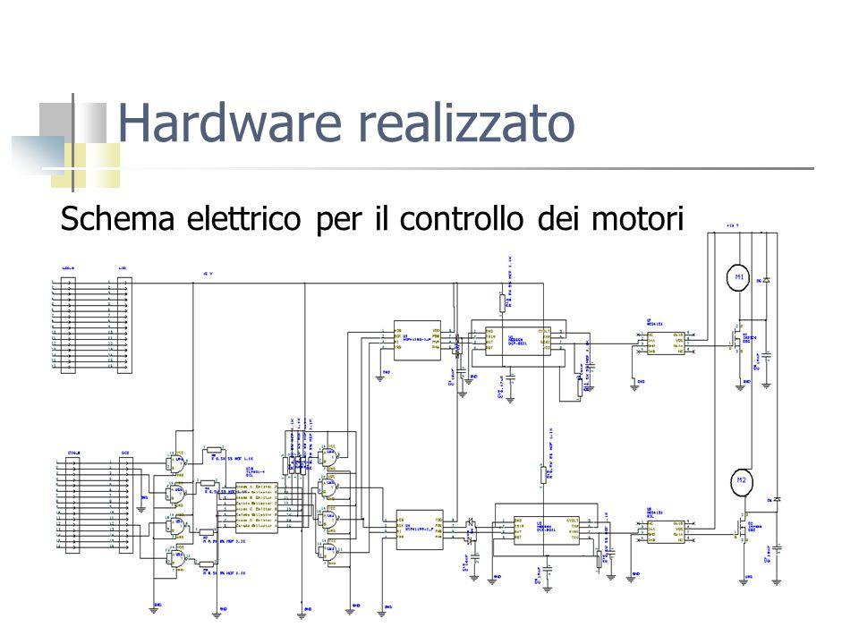 Hardware realizzato Schema elettrico per il controllo dei motori
