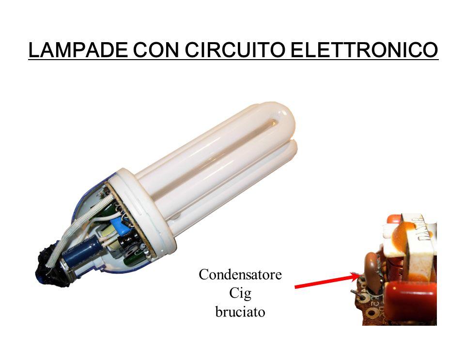 LAMPADE CON CIRCUITO ELETTRONICO Condensatore Cig bruciato