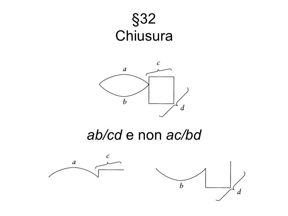 §32 Chiusura ab/cd e non ac/bd