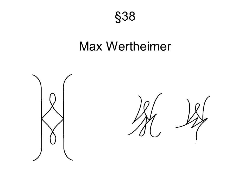 §38 Max Wertheimer