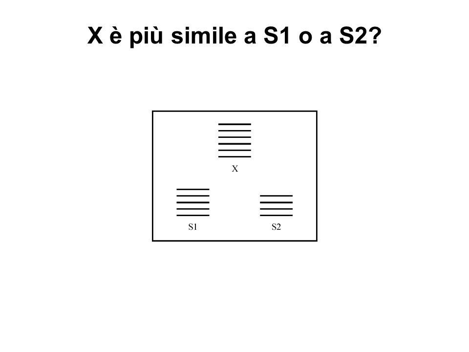 X è più simile a S1 o a S2?