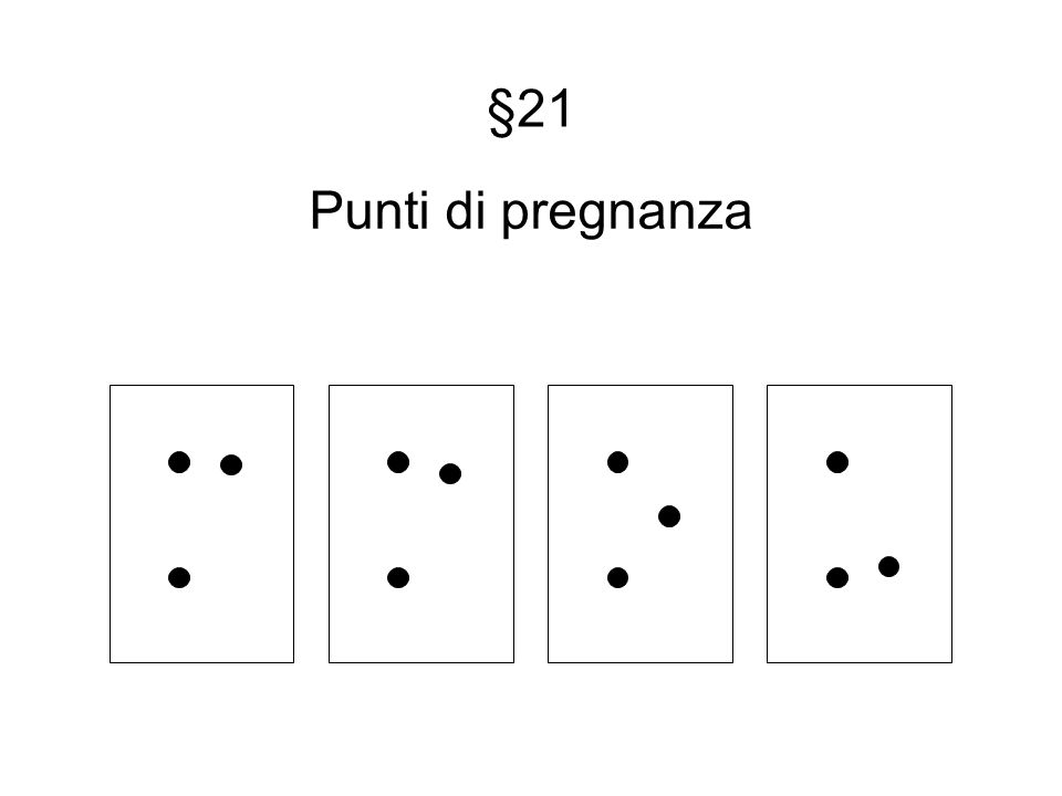 §21 Punti di pregnanza