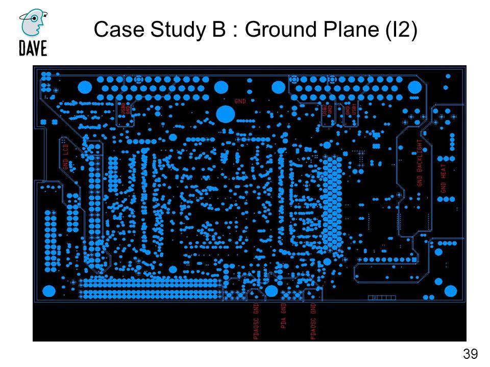 Case Study B : Ground Plane (I2) 39