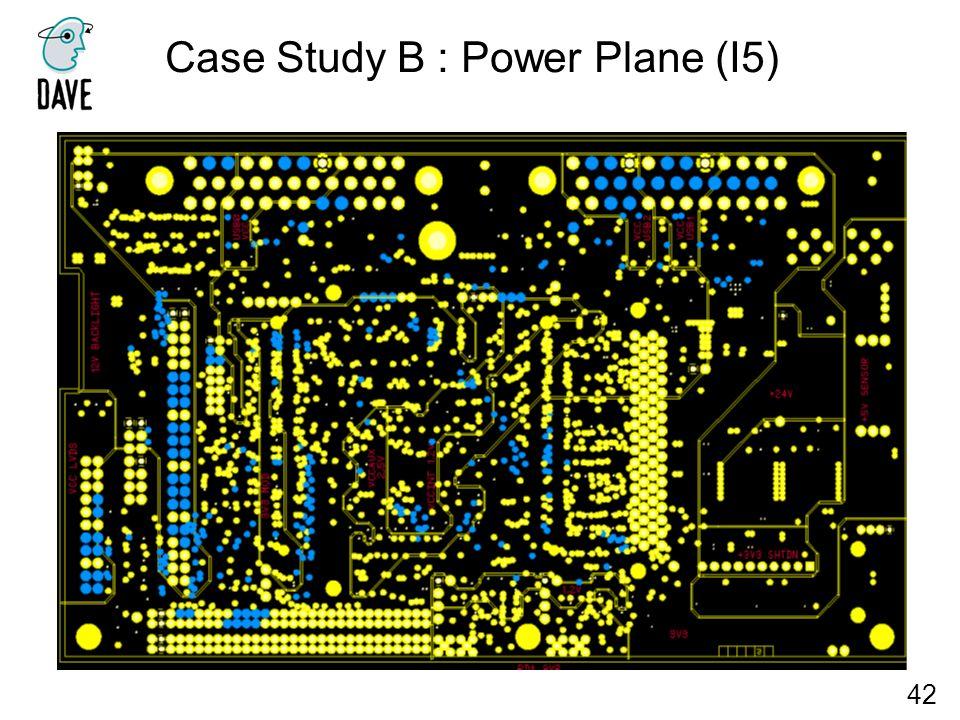 Case Study B : Power Plane (I5) 42