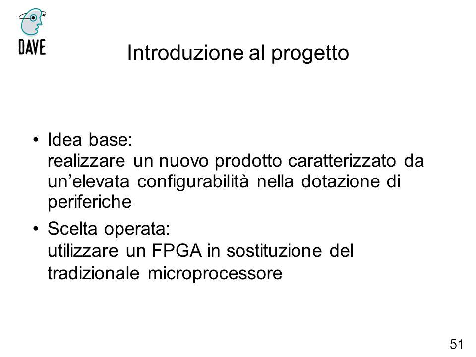Introduzione al progetto Idea base: realizzare un nuovo prodotto caratterizzato da unelevata configurabilità nella dotazione di periferiche Scelta ope