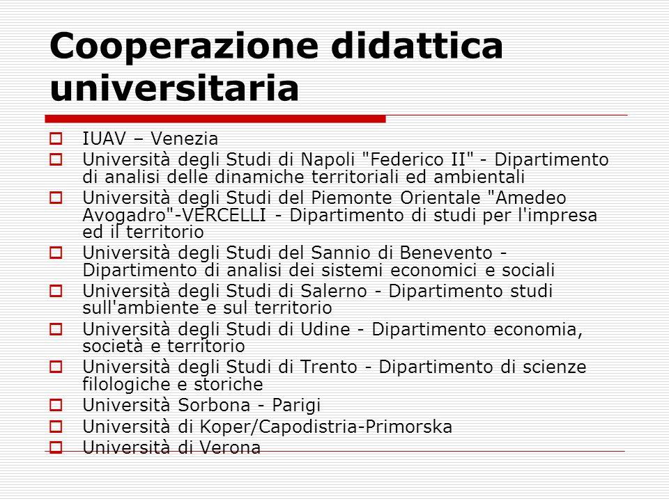 Cooperazione didattica universitaria IUAV – Venezia Università degli Studi di Napoli