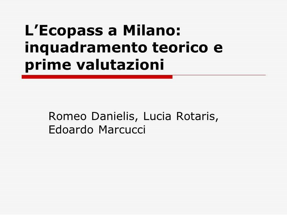 LEcopass a Milano: inquadramento teorico e prime valutazioni Romeo Danielis, Lucia Rotaris, Edoardo Marcucci