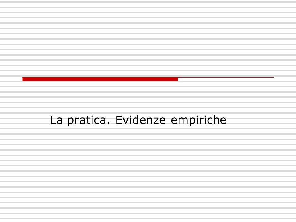 La pratica. Evidenze empiriche