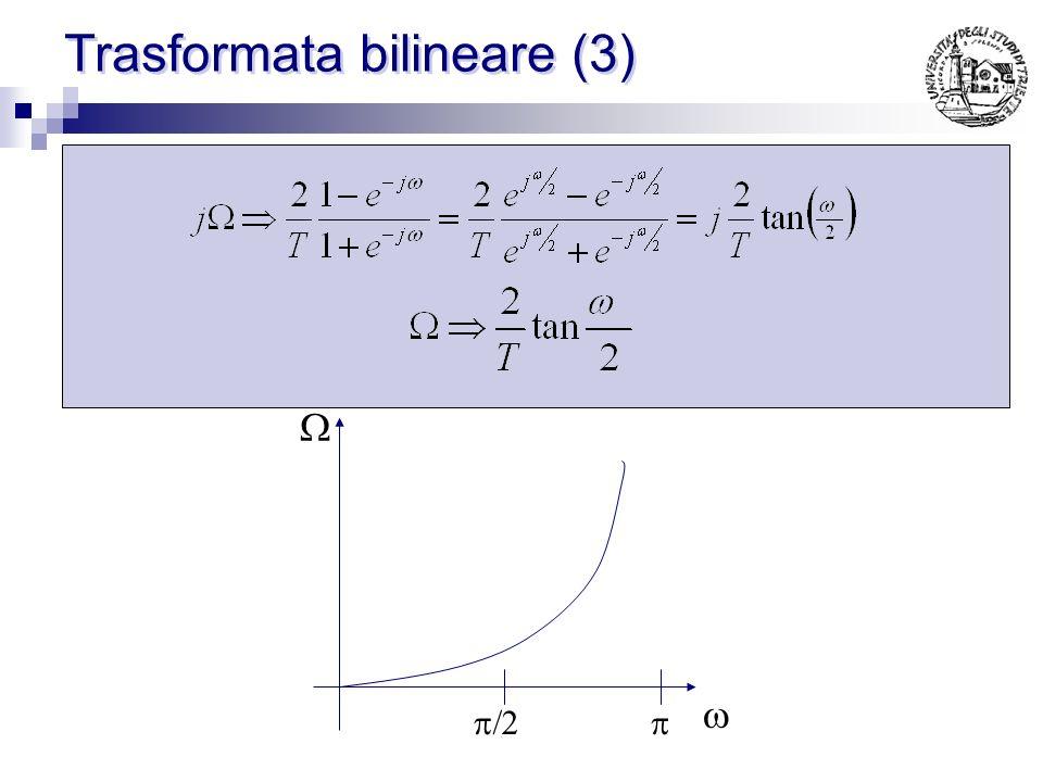Trasformata bilineare (2) S-planeZ-plane