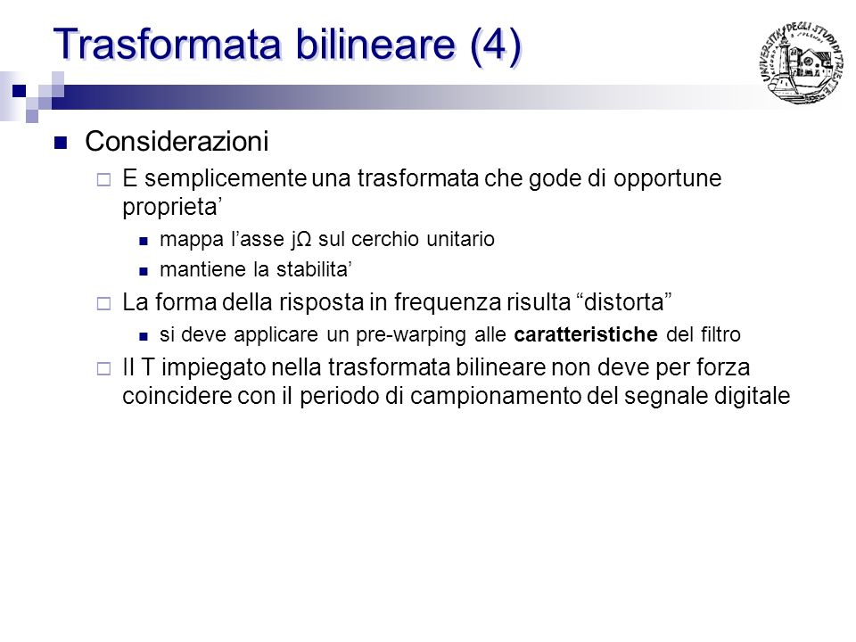 Trasformata bilineare (3)