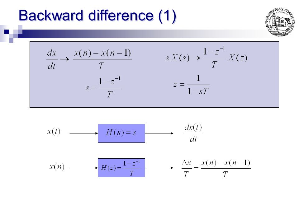 Backward difference (1)