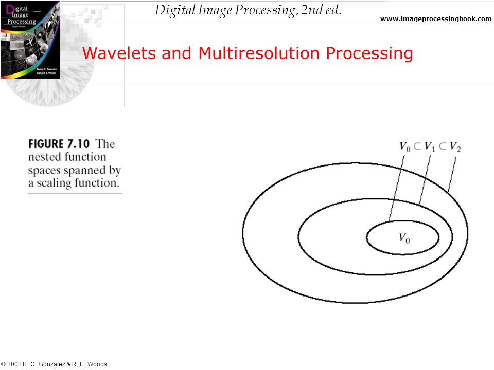 Digital Image Processing, 2nd ed. www.imageprocessingbook.com © 2002 R. C. Gonzalez & R. E. Woods Wavelets and Multiresolution Processing