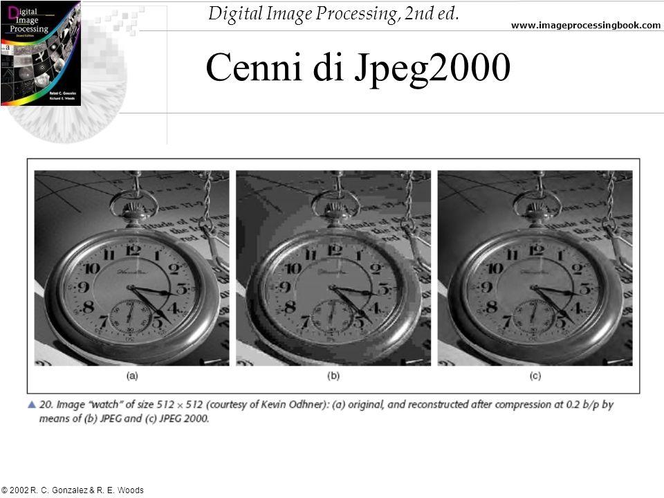 Digital Image Processing, 2nd ed. www.imageprocessingbook.com © 2002 R. C. Gonzalez & R. E. Woods Cenni di Jpeg2000