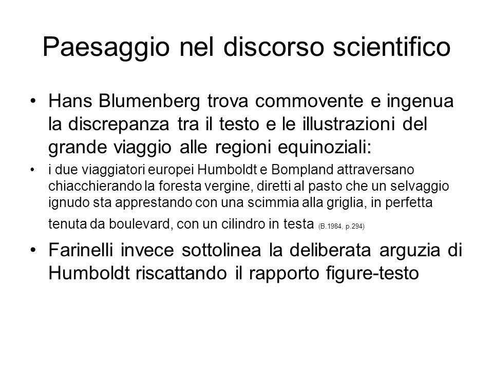Paesaggio nel discorso scientifico Hans Blumenberg trova commovente e ingenua la discrepanza tra il testo e le illustrazioni del grande viaggio alle r