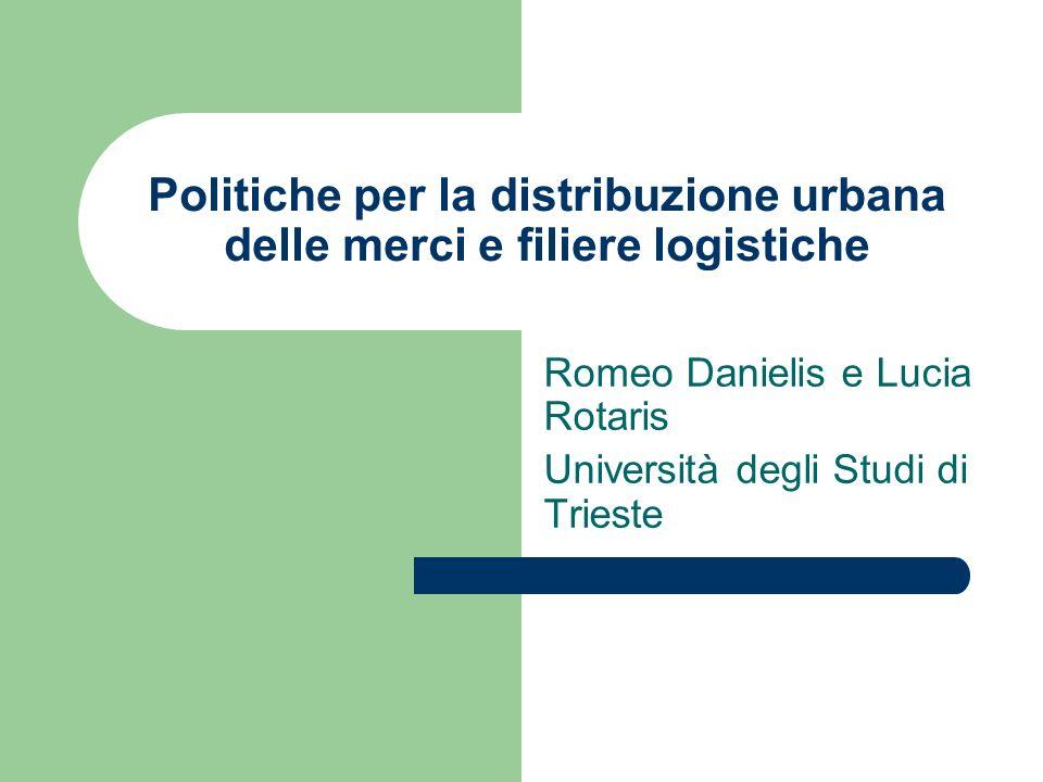 Politiche per la distribuzione urbana delle merci e filiere logistiche Romeo Danielis e Lucia Rotaris Università degli Studi di Trieste